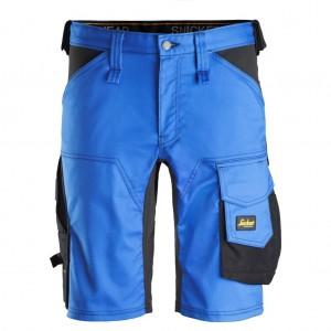 Pantaloni corti da lavoro colore azzurro / nero Modello Stretch 6143 Snickers Workwear