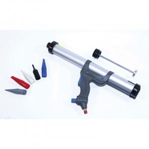 Pistola per silicone pneumatica Adatta per cartucce o sacchi