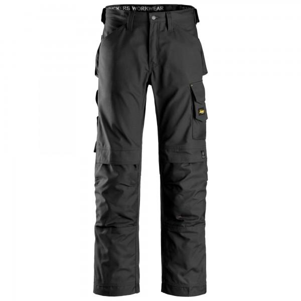 Pantalone senza tasche esterne Canvas+ nero