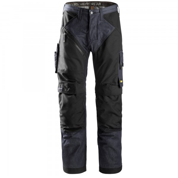 Pantaloni senza tasche Ruffwork Snickers workweare Denim nero