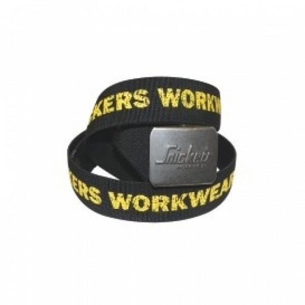 cintura elastica con logo giallo e nero