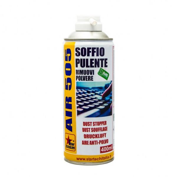 Bomboletta di aria spray adatta per rimuovere la polvere