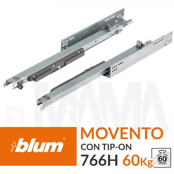 Guide per cassetti Blum Movento con tip-on 60Kg