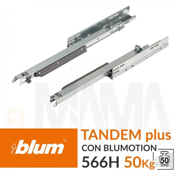 Guide per cassetti scorrevoli Blum Tandem Plus Blumotion 566H 50Kg